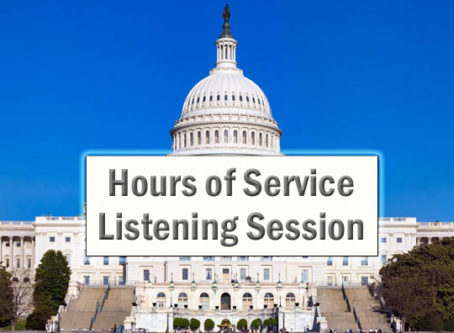 US Capitol, labeled Hours of Service Listening Session