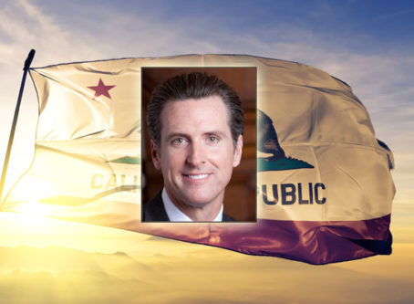 Gov. Gavin Newsom, California flag