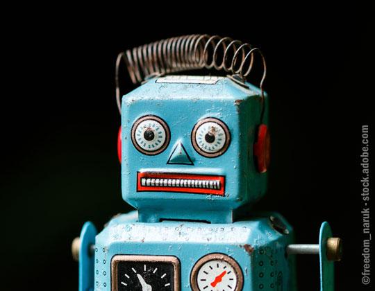 vintage toy robot autonomous technology