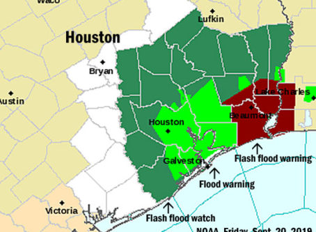 Flooding map of Houston from NOAA