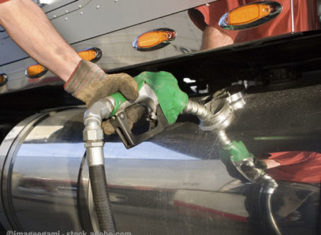 filling up with lower diesel fuel prices