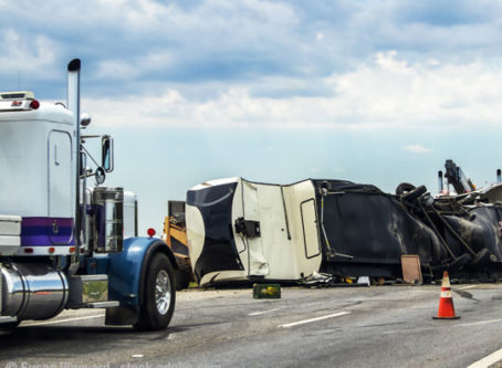 Collision along highway. Crashes that are not the fault of the driver or a motor carrier should not be counted against them