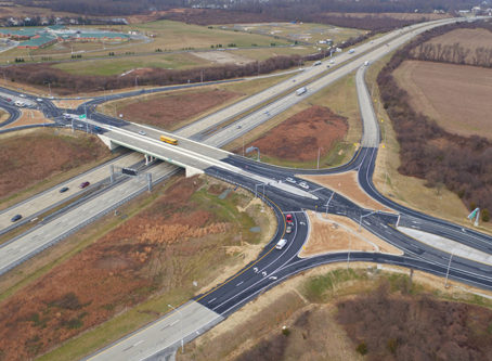 Delaware diverging diamond interchange