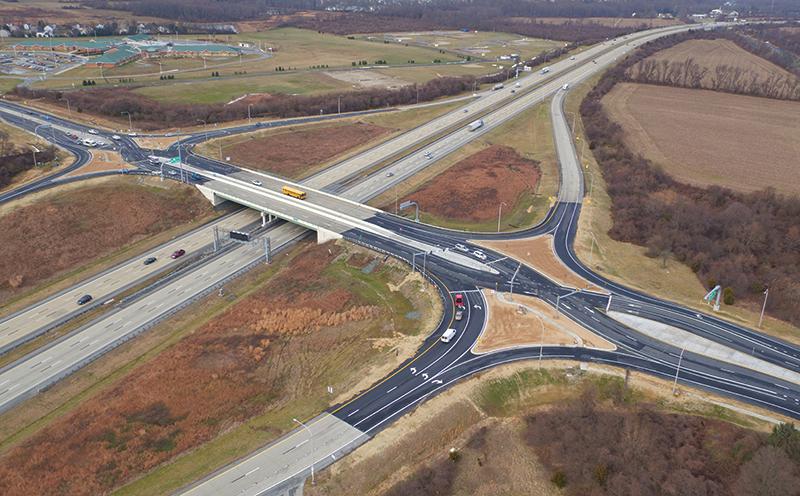 Delaware diverging diamond interchange