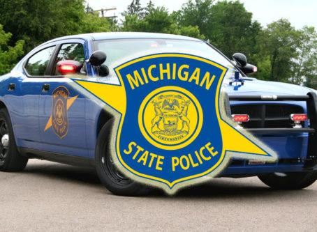 Michigan State Police car, logo