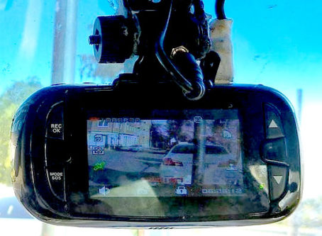 Dash cam in action