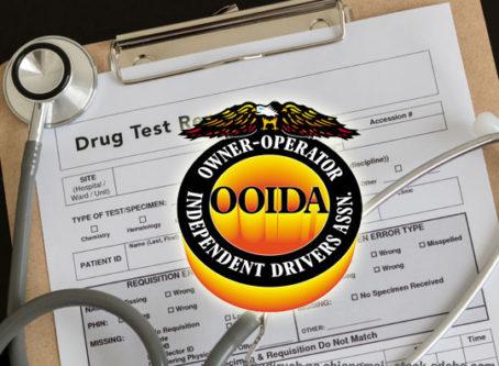 Drug testing form, OOIDA