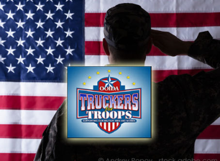 Trucker for Troops salute to U.S. military