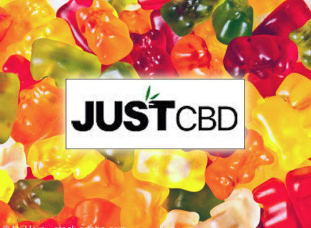 Just CBD logo, gummy bears