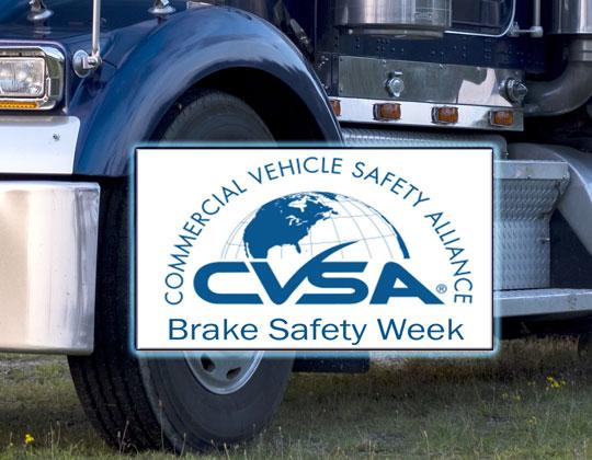 CVSA Brake Safety Week 2019 brake inspection