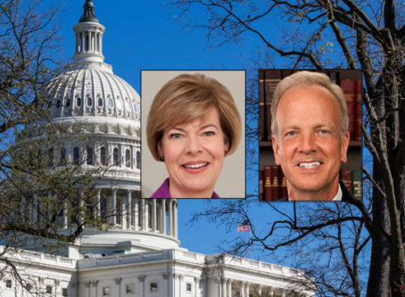 Women in Trucking Workforce Act sponsors Sens. Tammy Baldwin and Jerry Moran