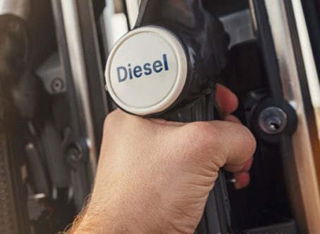Diesel prices higher at the pump