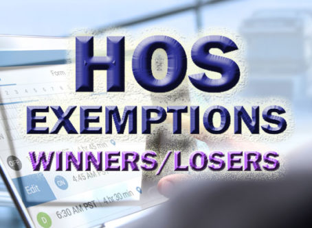 HOS exemption requests, winners and losers