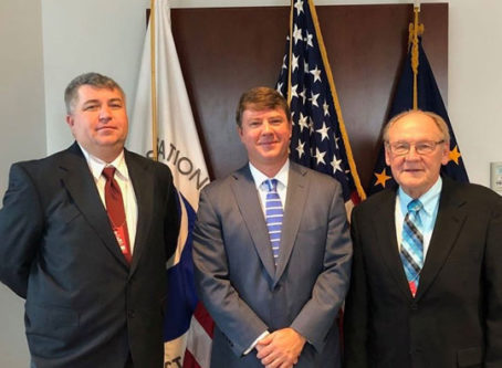 FMCSA Acting Administrator Jim Mullen with OOIDA's Lewie Pugh and Todd Spencer