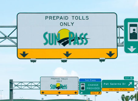 SunPass toll signs in Florida
