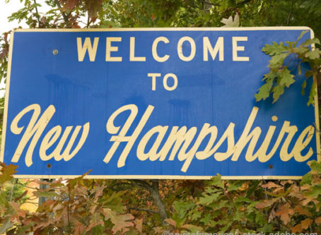 News Hampshire welcome sign