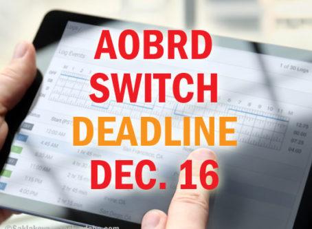 AOBRD switch deadline Dec. 16