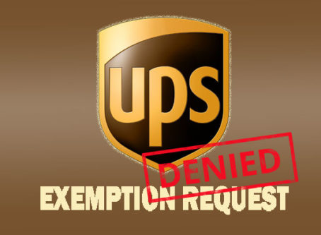 UPS exemption request denied by FMCSA