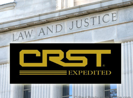 CRST Van Expedited logo, courthouse