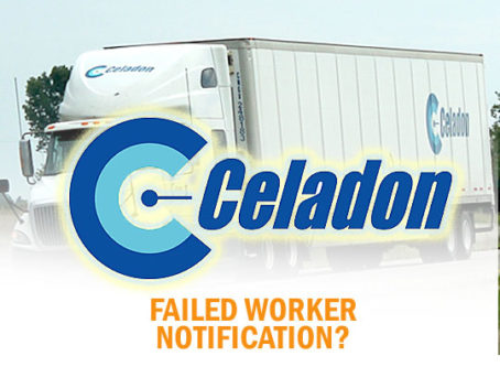 Celadon tripped over the WARN Act notification requirements, a lawsuit alleges