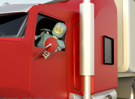 AV 4.0 technology, robot truck drivers