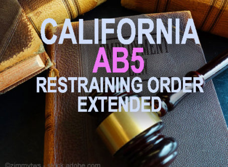 Temporary restraining order extended in AB5 lawsuit