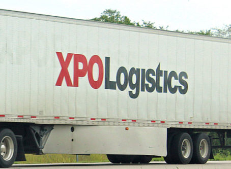 XPO Logistics on side of trailer