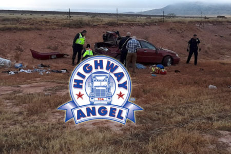 OOIDA member Charles Jasewicz is a Highway Angel for helping at this indicent