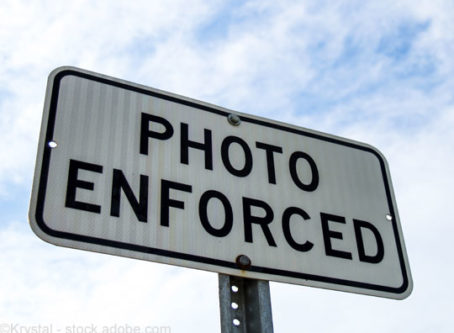 Traffic cameras, photo enforced sign