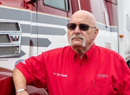 Jon Osburn, skipper of OOIDA's tour trailer, The Spirit