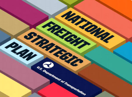 Cover of National Freight Strategic Plan report from U.S. DOT