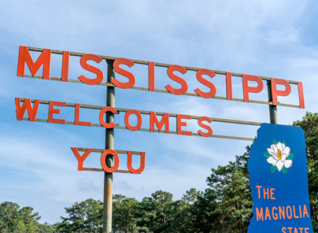 Mississippi Welcomes You sign