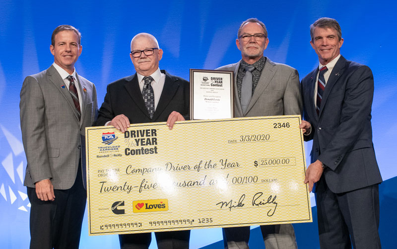 TCA Company Driver of the Year, OOIDA life member Don Lewis