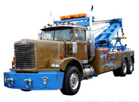 wrecker, tow truck towing