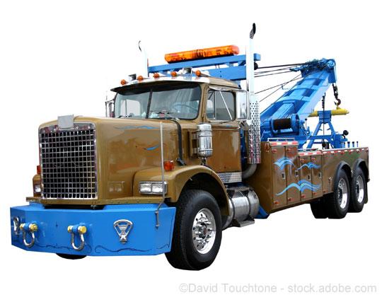 wrecker, tow truck
