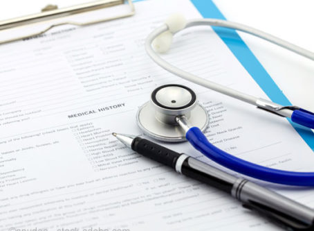 FMCSA Medical review form, stethoscope