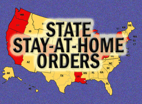 More than half of states have stay-at-home orders