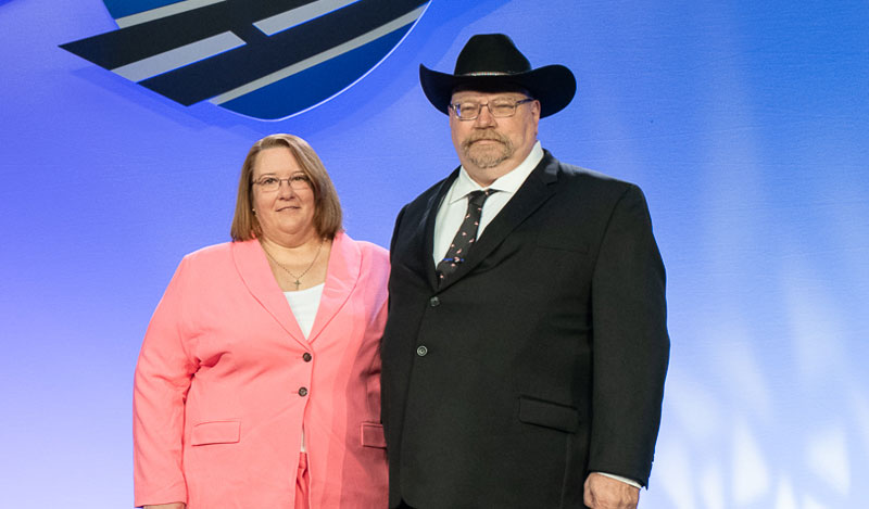 Tracy and Ed Zimmerman, OOIDA members and Highway Angels of the Year