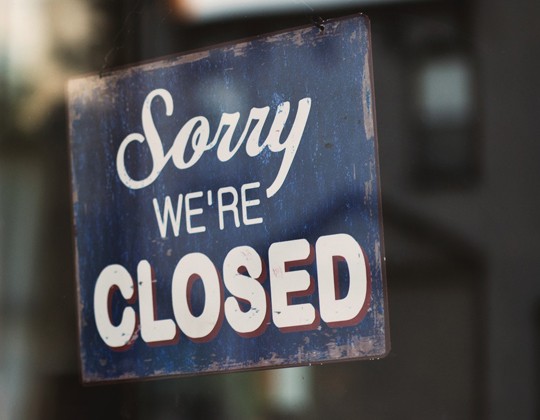 truck parking restaurants closed