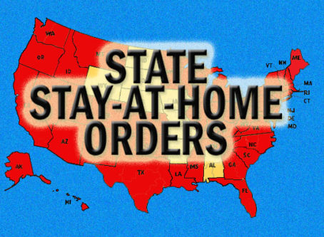 State stay-at-home orders map