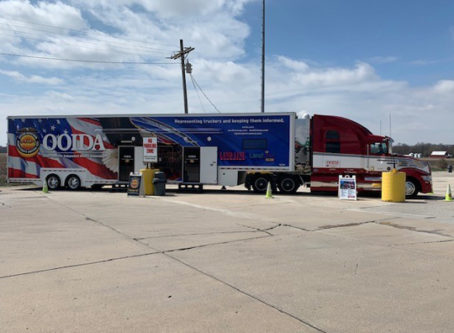 OOIDA's tour trailer, The Spirit, in Brazil, Ind.