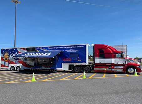 OOIDA's tour trailer, The Spirit, in Troy, Ill.