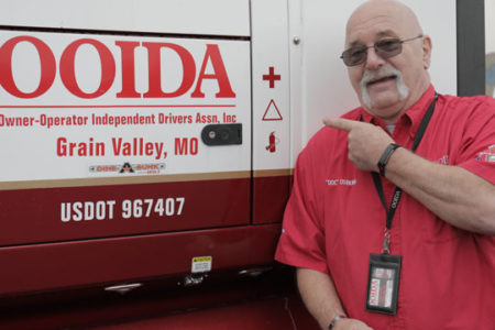 Jon Osburn, skipper of OOIDA's tour trailer, The Spirit