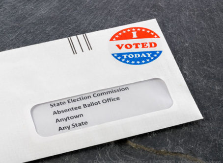 mail-in absentee voting ballot