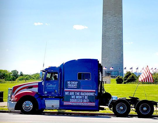 Truckers protest lack of broker transparency