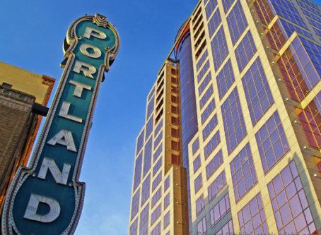 Portland sign in Portland, Ore.