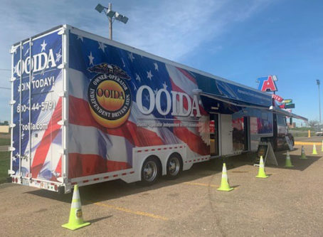 OOIDA's tour trailer, The Spirit, in Ogallala, Neb.