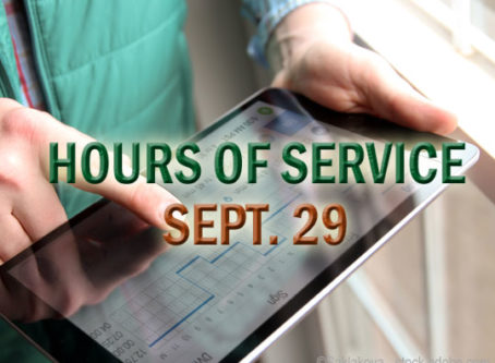 Hours of service plan set to go into effect Sept. 29