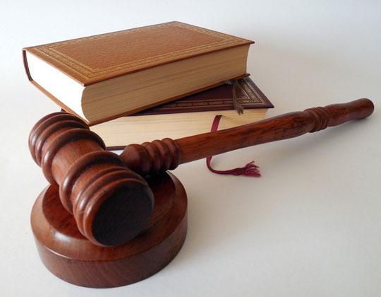judge's gavel, lawbooks pandemic