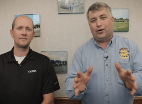 Mike Matousek and Lewie Pugh discuss OOIDA video discusses good and bad of INVEST in America Act in OOIDA video